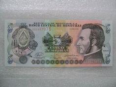 2008 five Lempiras paper money bill, uncirculated