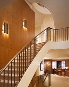 Bronze Rail, Stair Runner U0026 Elliptical Stair   Transitional Staircase By  Remick Associates Architects +