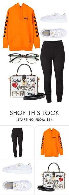 """Untitled #1655"" by lovelydgessy on Polyvore featuring Venus, Vans, Puma, Dolce&Gabbana and plus size clothing"