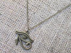 Egyptian Eye of Horus Bronze Necklace