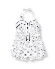 Janie and Jack Dotted Skirted Romper - Maizie Jane and Eilidh could have matching ones!