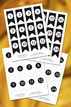Black and white number file, 48 different mini flags, 4 pages, for Advent calendars. Diy Advent Calendar, Advent Calendars, Different Flags, Mini Flags, Star Wars, Web Instagram, Bunting Banner, Home Printers, Etsy Seller