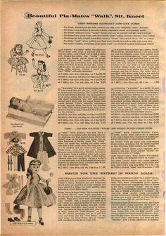 1956 Advert 2 PG Toy PLA Mate Doll Ballerina Mimi Bride Color   eBay