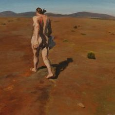 The wind in the plain/Naked self portrait, Albertinia. Oil on wood. 30 x - CLARE MENCK Naked, Self, Wood, South Africa, Portraits, Painting, Artists, Inspiration, Decor