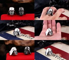 [Visit to Buy] 2017 New Hot Sale Fine Popular Punk Index Finger Male Ring  Darth Vader Star Wars Black Knight Mask Shape Ring Darth Vader RS004 #Advertisement