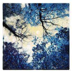 China Blue 4x4 Original Signed Fine Art by dahliahousestudios, $19.99