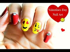 Emoji Nail Art | Valentine's Day Nail Art design tutorial - http://47beauty.com/nails/index.php/nail-art-designs-products/  Hello guys !! ♥♥♥♥♥ SUBSCRIBE if you like ♥♥♥♥♥ A nail art tutorial using emoji ! Looking for a fun cute design for this Valentine's day?? Try out this emoji nails design. This works good for short and long nails. I hope you enjoy this. I would love to see your recreations of this nail art tutorial. Share your nails photos with