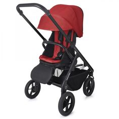 Easywalker Mosey Chasis Black London Red + Capazo