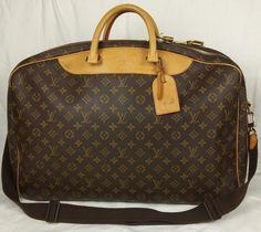 100% Authentic LOUIS VUITTON Monogram Double Compartment Travel Shoulder Bag #LouisVuitton #TravelBagShoulderBagLuggage