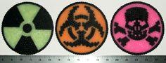 Weapons of Mass Destruction Hazard Symbols Perler Wall Decoration Set of 3. $10.00, via Etsy.