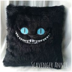 Handmade Cheshire Cat Cushions ❤ liked on Polyvore featuring home, home decor, throw pillows, handmade home decor, handcrafted home decor, black toss pillows, black home decor and handmade throw pillows