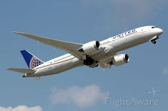 First revenue flight for United Airlines new Boeing 787-9. Seen here departing runway 15R to KLAX as flight UAL 1086.