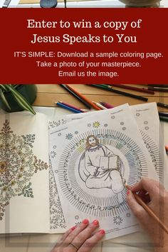 Enter to win a free copy of Jesus Speaks to You a Coloring Book for Prayer and Meditation from Pauline Books & Media.