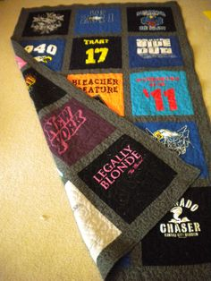 Double Sided TShirt Quilt like the look of this one too, with the fabric in between