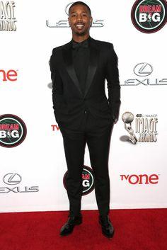 Michael B. Jordan wearing Dior Homme and Christian Louboutin – NAACP Image Awards #2014