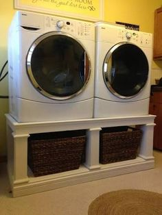 Image result for front load washer and dryer pedestal ideas
