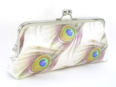 Adorable handmade clutches...loving the peacock print!