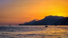 sunset in Positano