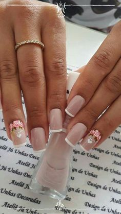 Love Nails, Pink Nails, How To Do Nails, Pretty Nails, My Nails, Nailed It, Toe Nail Designs, French Nails, Nail Arts