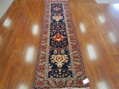 This reproduction of a #Persian #hall #runner is made using the exactly correct blend of reds, blues, golds and greens