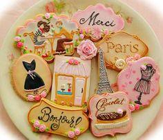 Parisian Cookies - so cute!