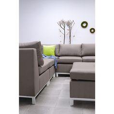 STAVIA - Lounge Set 6-teilig - SUNBRELLA - Taupe / Matt Weiß [Garden Impressions]
