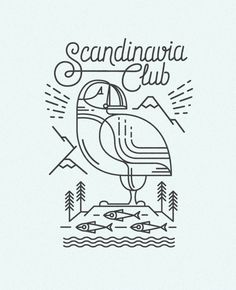 Illustrations and T-shirt designs for Scandinavia club, Moscow. http://www.scandinaviaclub.ru/
