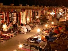 Luang Prabang night market, Laos Hope to go there one day. It seems to me a different life experience.