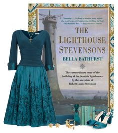 The Lighthouse Stevensons by savannahlaclair on Polyvore featuring polyvore, fashion, style, Eliza J, Chanel, Versace, Pori, Blenko, clothing, teal, books and lighthouse