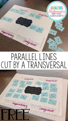 My 8th Grade Math students loved this activity!  It was the perfect way to review the angle pairs created by parallel lines cut by a transversal.  This was so much better than a math worksheet.  I will definitely be doing this Geometry activity again.