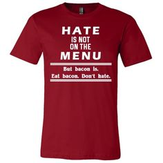 Hate is Not on the Menu (Men's Greenwich Crewneck Tee)
