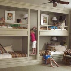 Love this space saving bed idea!