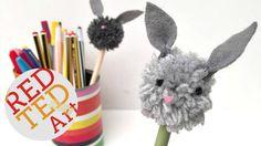bunny pom pom pencil