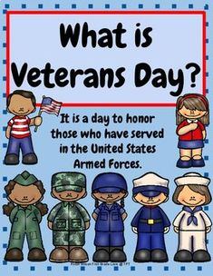 This Veterans Day Activities packet will help your young students understand about Veterans Day and honor those that have served our country. There are information posters for teaching Veterans Day, and five branches of Armed Forces are covered. Veterans Day Activities, Grammar Activities, Writing Activities, Classroom Activities, Summer Activities, Preschool Songs, Early Literacy, Literacy Centers, Parent Board