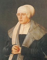 Kunigunde of Austria (German: Kunigunde von Österreich) (16 March 1465 – 6 August 1520) was an Austrian Archduchess member of the House of Habsburg and by marriage Duchess of Bavaria-Munich and since 1503 over all Bavaria. She was the daughter of Frederick III, Holy Roman Emperor and his wife Eleanor of Portugal, daughter of King Edward of Portugal.