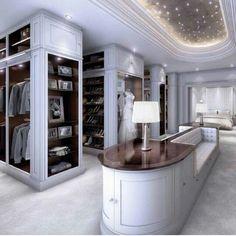 Opulent white custom closets #luxurywardrobes