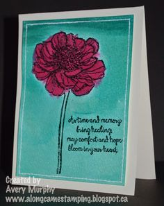 #StampinUp #BloomWithHope Along Came Stamping: FM167 Minimal Layers Watercolor Wash