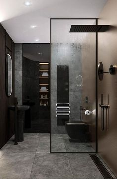 Master Bathroom Ideas Decor Luxury is definitely important for your home. Whether you pick the Luxury Bathroom Master Baths Beautiful or Luxury Master Bathroom Ideas, you will make the best Small Bathroom Decorating Ideas for your own life. Luxury Master Bathrooms, Dream Bathrooms, Amazing Bathrooms, Black Bathrooms, Master Baths, Large Bathrooms, Bathroom Interior, Modern Bathroom, Small Bathroom