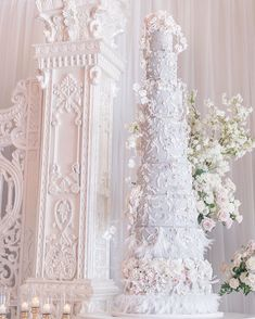 Tall Wedding Cakes, Luxury Wedding Cake, Beautiful Wedding Cakes, Wedding Cake Inspiration, Custom Cakes, Photo And Video, My Favorite Things, Wedding Dresses, Detail