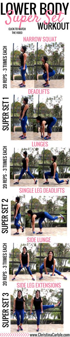 I'm sharing a leg workout demonstrating how to use the superset strategy for your lower body.  I'm hoping this will help inspire you.