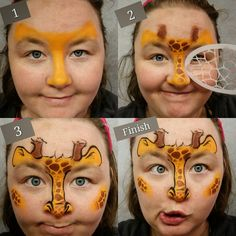EASY and quick giraffe half faced tutorial. Great for squirmers and loving parents!