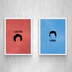 This is pretty brilliant for the Star Wars fan in your world. :: Sci-Fi Love Art Prints at dot and bo
