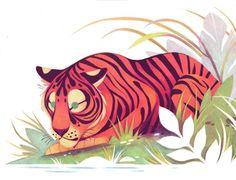 #Repost @taylornprice ・・・ Last one #tiger #lineart #kidlitart #childrensillustration #illustration