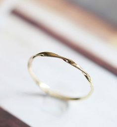 Mobius ring solid 14k 18k gold twist band stacking ring, rose gold, white gold, stackable band ring, wedding band