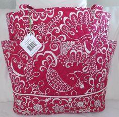 f1832edd503 VERA BRADLEY Large GO ROUND TOTE Twirly Birds Pink - Brand New with Tag   VeraBradley