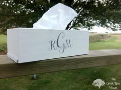The Creek Line House: DIY Monogram Tissue Box Cover