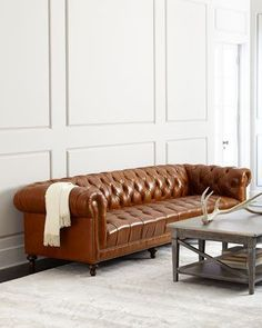 Davidson+Tufted-Seat+Chesterfield+Sofa+by+Massoud+at+Horchow.