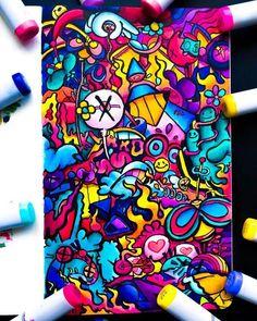 Les Doodle, Cute Doodle Art, Doodle Art Designs, Doodle Art Drawing, Cute Doodles, Graffiti Doodles, Graffiti Cartoons, Graffiti Drawing, Graffiti Art