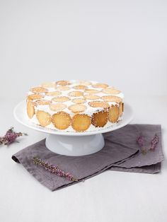 Smetanovo-tvarohový dort s dětskými piškoty Vanilla Cake, Camembert Cheese, Cooking, Sweet, Blog, Mascarpone, Bakken, Vanilla Sponge Cake, Koken