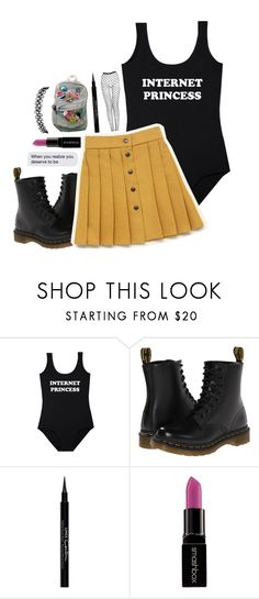 """""""s h u t y o u r t r a p"""" by weirdestgirlever ❤ liked on Polyvore featuring Dr. Martens, Givenchy, Smashbox and bestsetabby"""